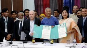 格萊珉電信信託(GTT)與孟加拉社會進步協會(BASA)簽署社會企業計畫
