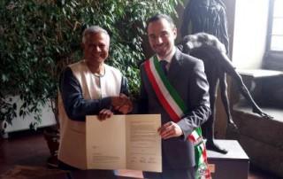 尤努斯教授與皮斯托亞市長