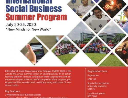 【友善宣傳】線上活動-ISBSP 國際社企夏季計畫