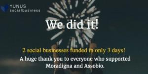 尤努斯社會型企業透過非營利組織KIVA資助2間新的企業